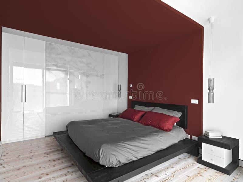 Vista interior de um quarto moderno imagem de stock