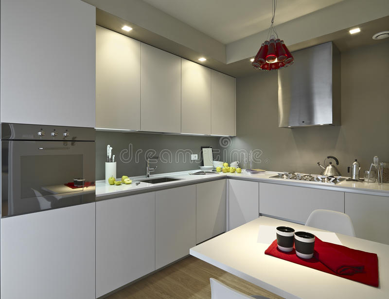 Vista interior de uma cozinha moderna foto de stock royalty free