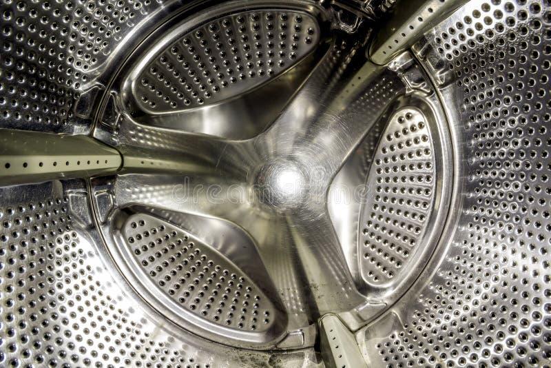 Vista interior de un tambor de una lavadora imágenes de archivo libres de regalías