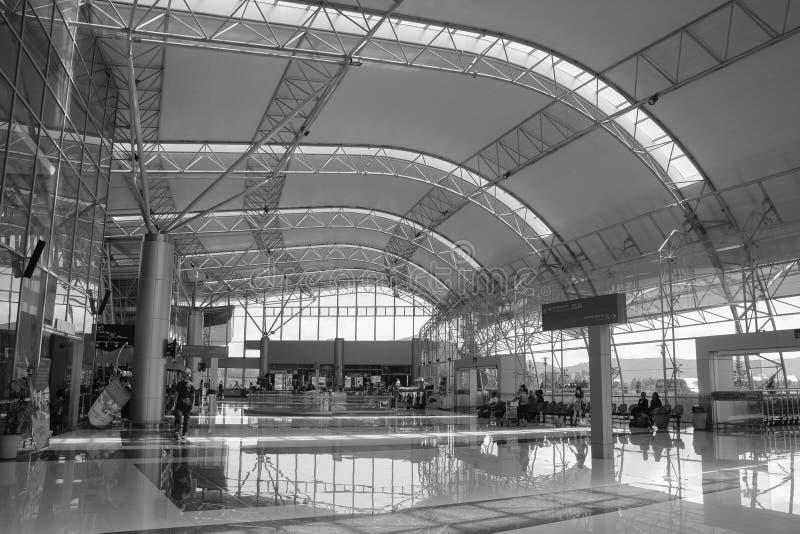 Vista interior del aeropuerto de Lien Khang en Dalat, Vietnam fotos de archivo