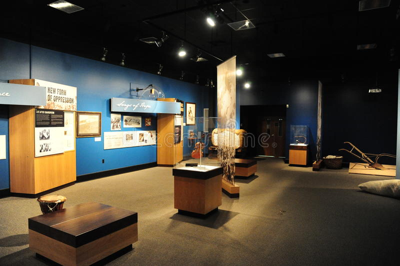 Vista interior del museo cultural del delta, Helena Arkansas imágenes de archivo libres de regalías