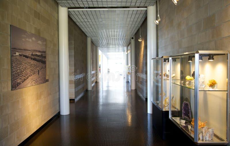 Vista interior del museo del río del Tunica imagen de archivo libre de regalías