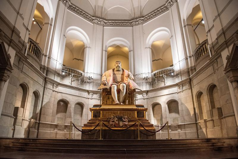 Vista interior del museo nórdico Nordiska Museet en Estocolmo, Suecia imágenes de archivo libres de regalías