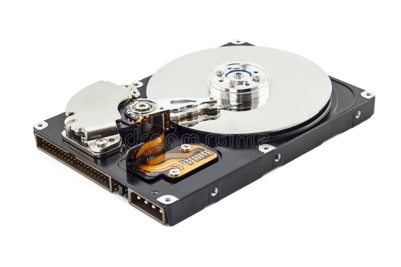 Vista interior del ordenador del disco duro fotos de archivo