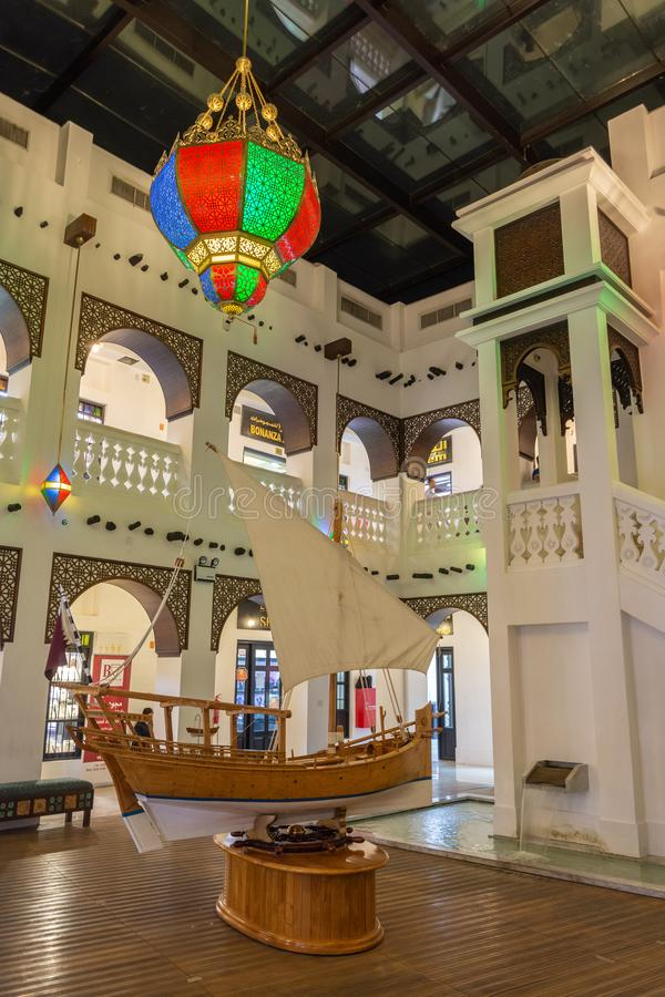 Vista interior do ouro Souq em Doha, Catar fotos de stock royalty free