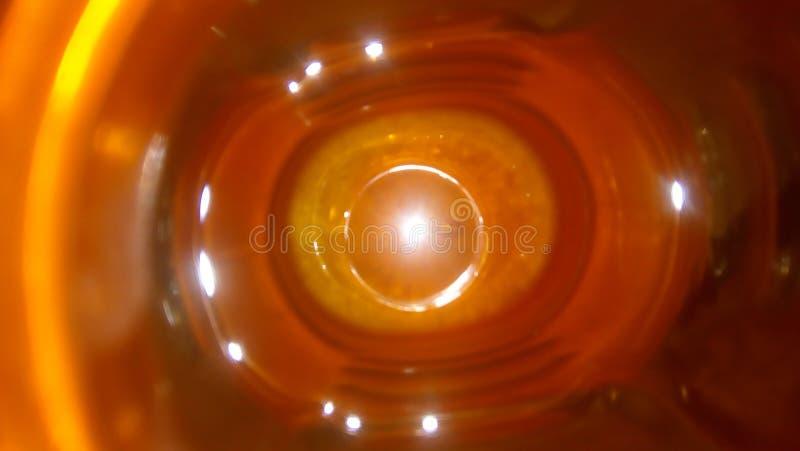 Vista interior increíble de una botella foto de archivo libre de regalías