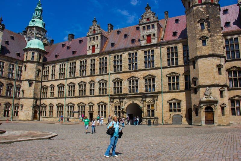 Vista interna del castello di Kronborg immagini stock libere da diritti