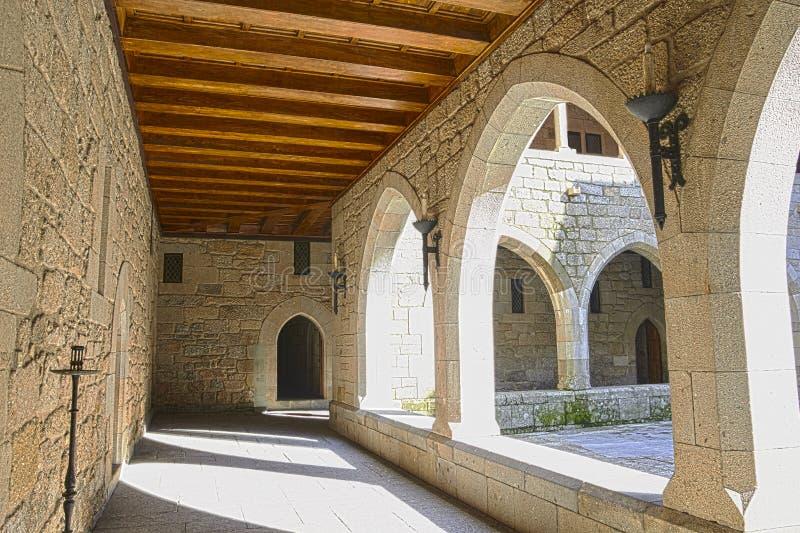 Vista interna del palazzo di Duques de Braganca, a Guimaraes, Por fotografia stock
