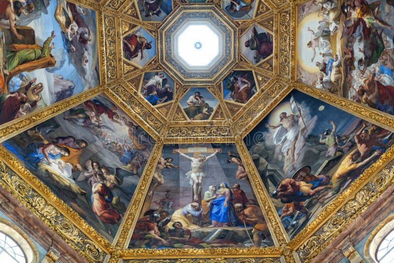 Vista interna della cappella di Medici immagine stock libera da diritti