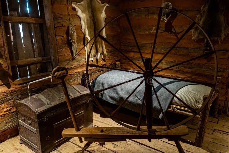 Vista interna della capsula di Sequoyah immagini stock