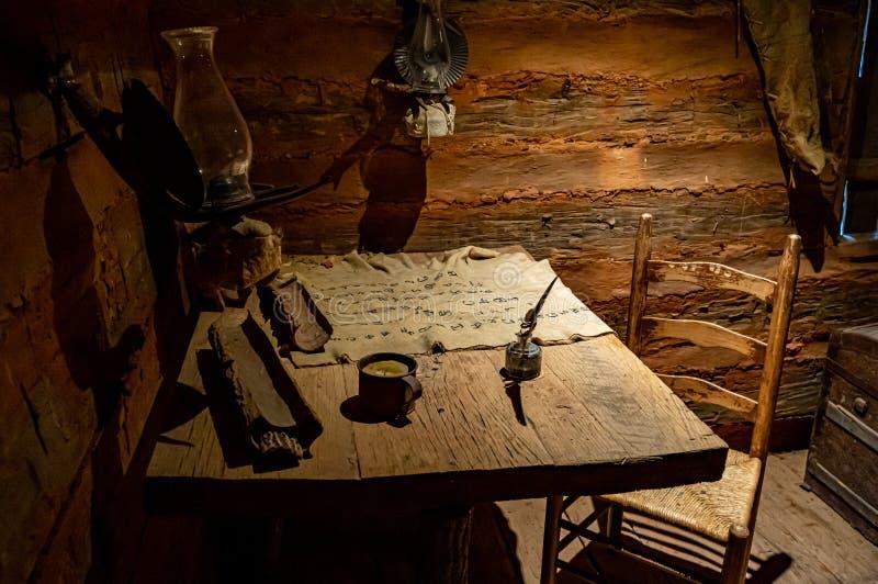 Vista interna della capsula di Sequoyah fotografia stock