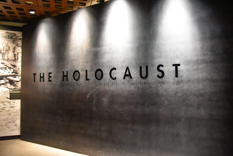 Vista interna do museu memorável do holocausto, no Washington DC, EUA foto de stock royalty free
