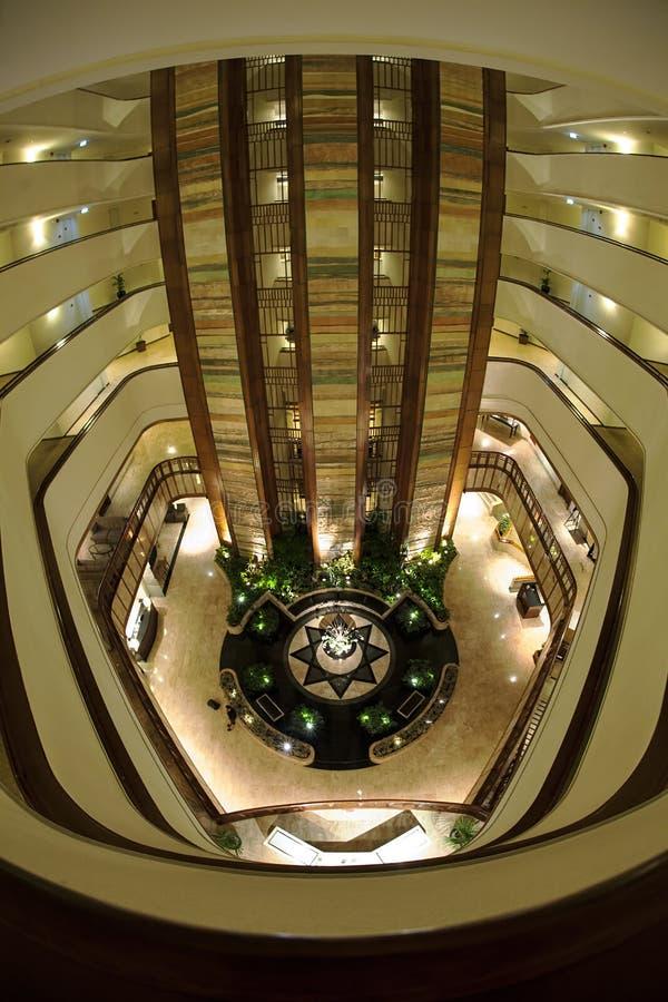 A vista interna original de Hyatt Regency, Bandung, Indonésia imagens de stock royalty free