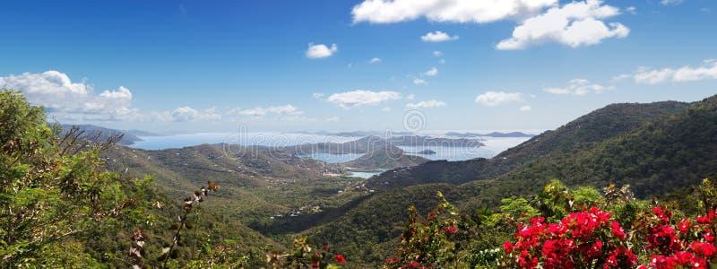 Vista Isole Vergini immagini stock