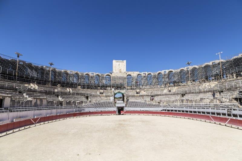 Vista a la arena famosa en Arles, Francia foto de archivo libre de regalías