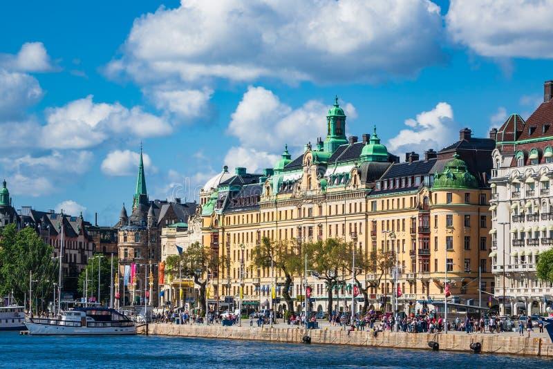 Vista a la capital de Suecia, Estocolmo imagen de archivo