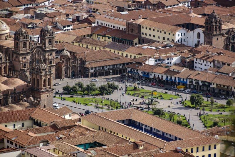 Vista a la catedral de Cuzco fotografía de archivo libre de regalías