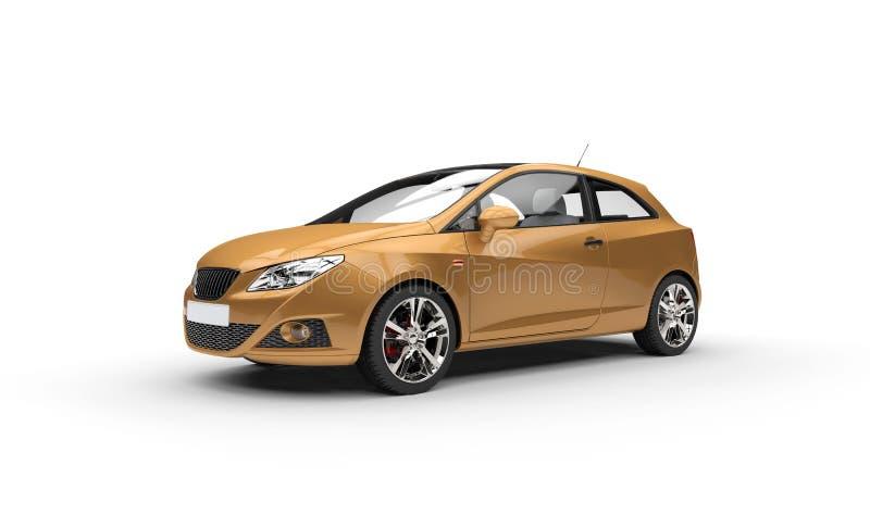 Vista lateral automobilístico dourada ilustração do vetor