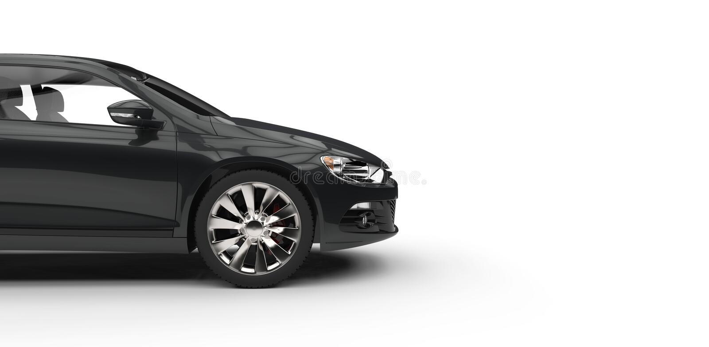 Vista lateral automotriz compacta moderna negra stock de ilustración
