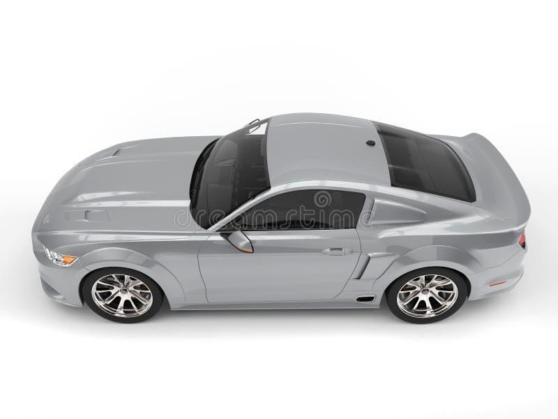 Vista lateral automotriz del músculo urbano de plata estupendo libre illustration
