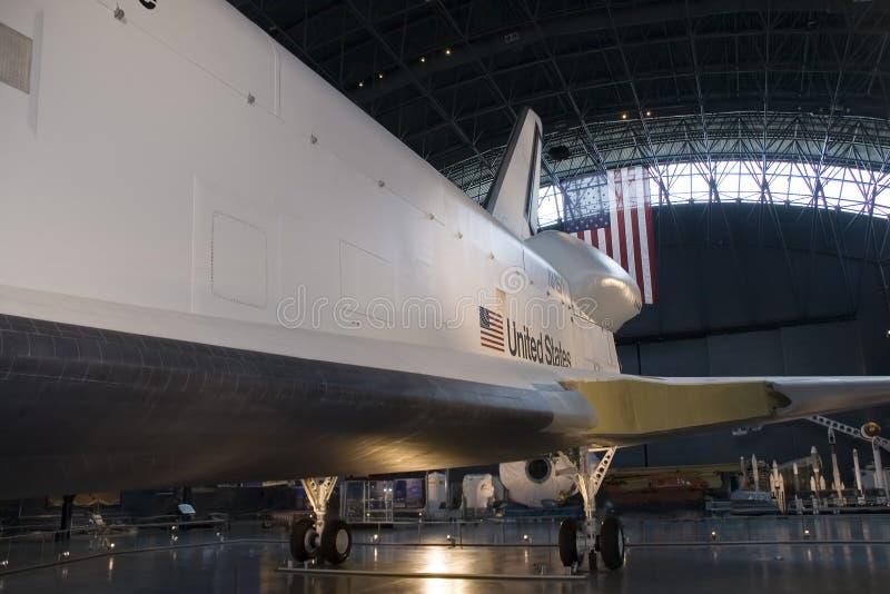 Vista lateral de la lanzadera de espacio imagenes de archivo