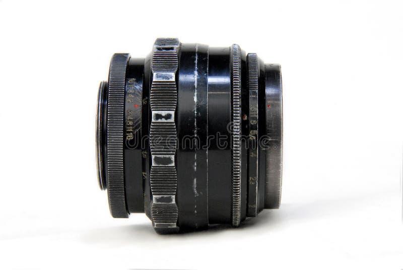 Vista lateral de la lente lamentable vieja fotos de archivo libres de regalías