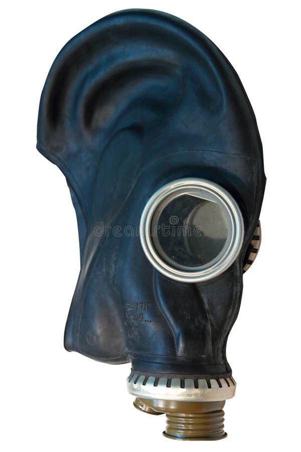 Vista lateral de la máscara de Chernobyl fotografía de archivo