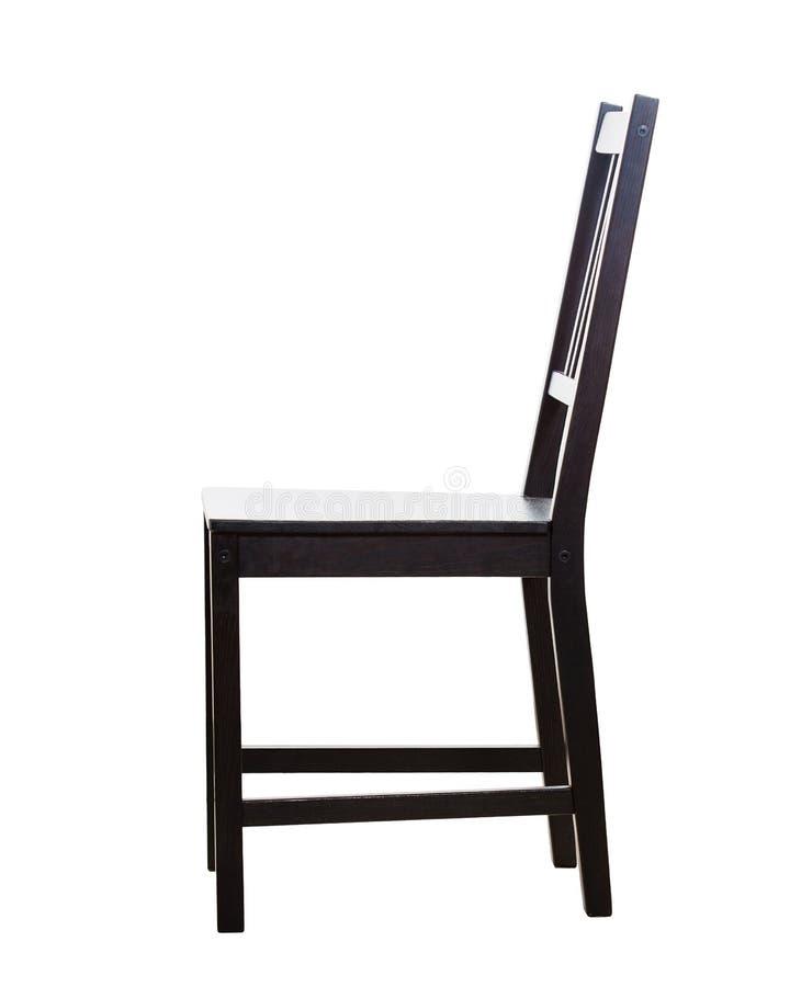 Vista lateral de la silla de madera imágenes de archivo libres de regalías