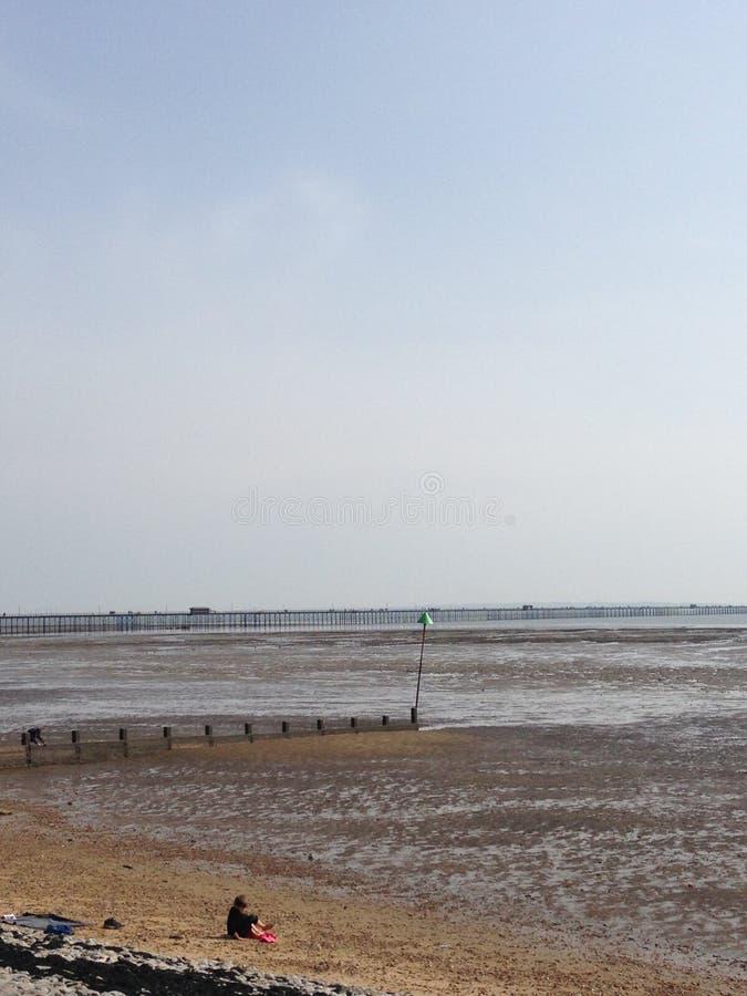 Vista lateral de mar fotos de archivo