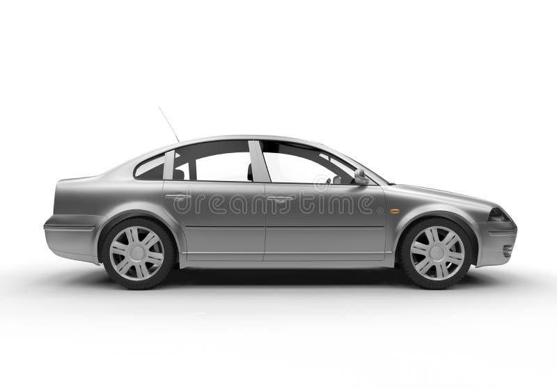 Vista lateral de um carro do sedan ilustração do vetor