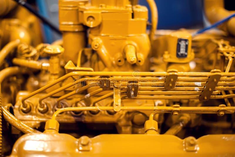 Vista lateral de um tiro detalhado do close up do motor do barco de motor Recreação, conceito técnico fotografia de stock royalty free