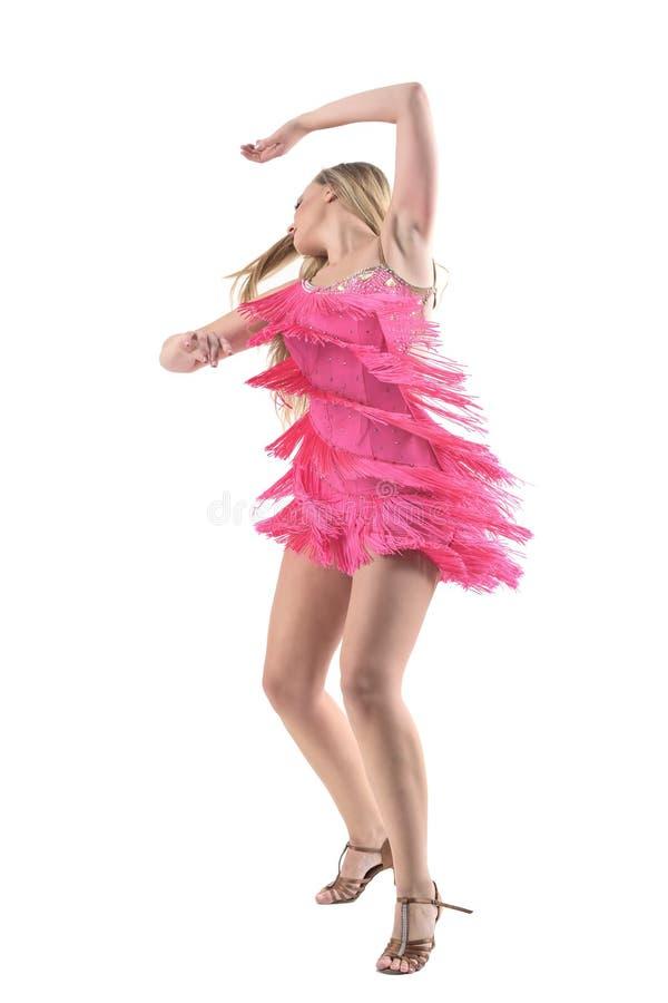 Vista Lateral Del Baile Apasionado Y De Spining De La Mujer Del ...