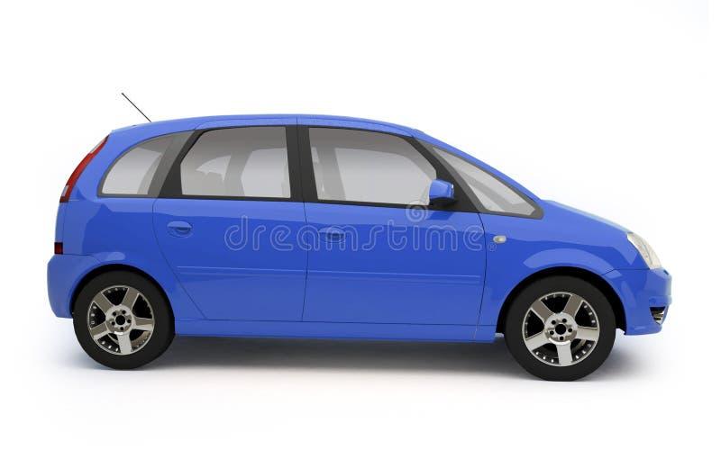 Vista lateral del coche azul multiusos ilustración del vector