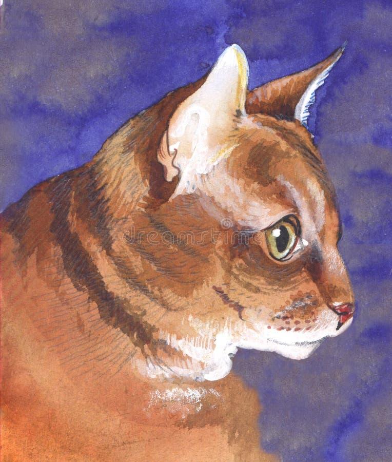 Vista lateral del gato ilustración del vector