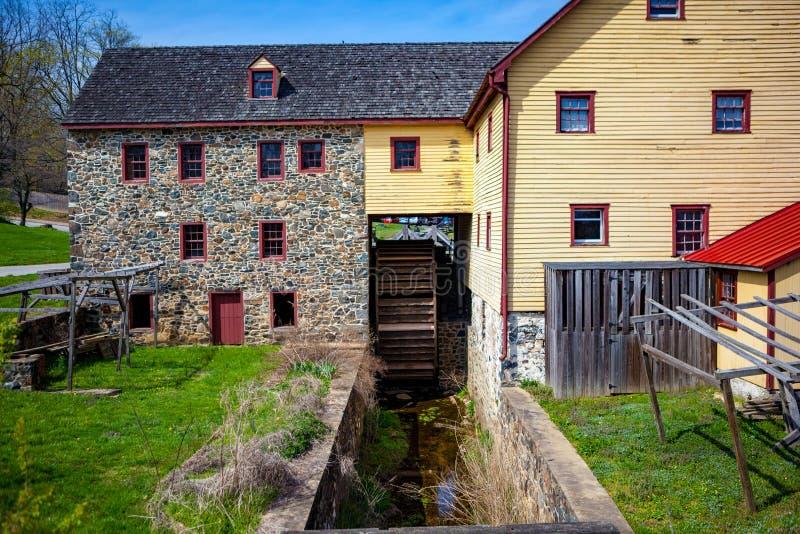 Vista lateral del molino de Greenbank fotos de archivo libres de regalías