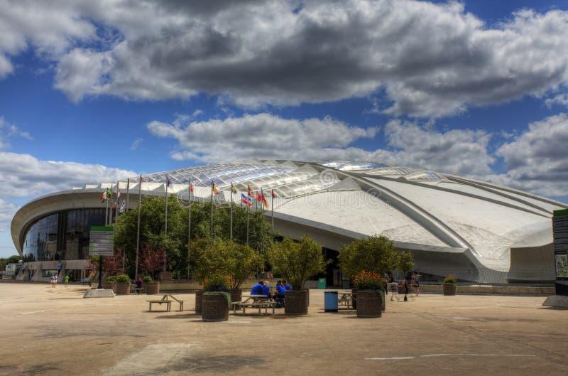 Vista lateral do Biodome em Montreal, Canadá foto de stock