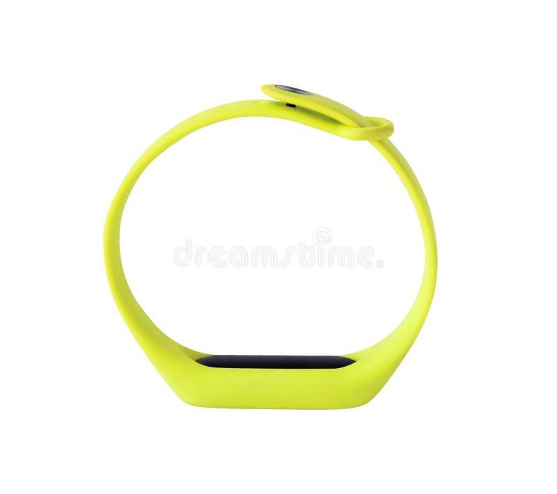 Vista lateral do bracelete da aptidão fotografia de stock