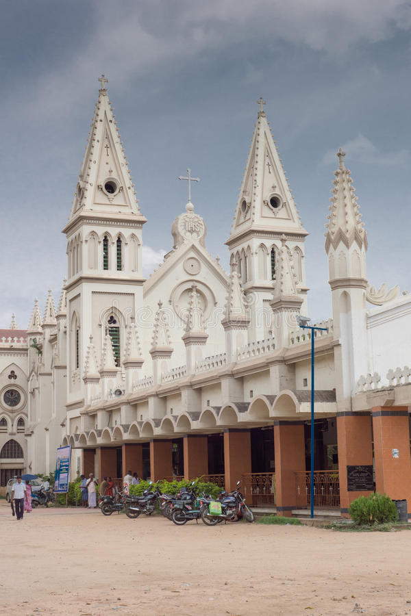 Vista lateral em Saint Joseph Church em Dindigul fotografia de stock royalty free