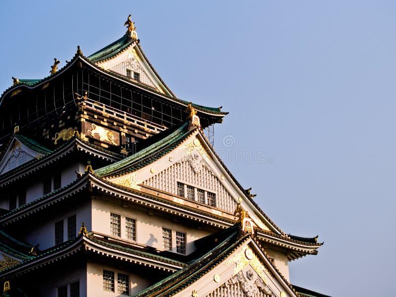 Vista lateral en el castillo de Himeji imagen de archivo