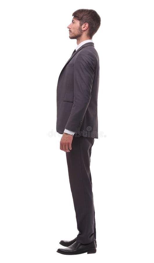 Vista lateral Retrato de um homem de negócios confiável fotos de stock