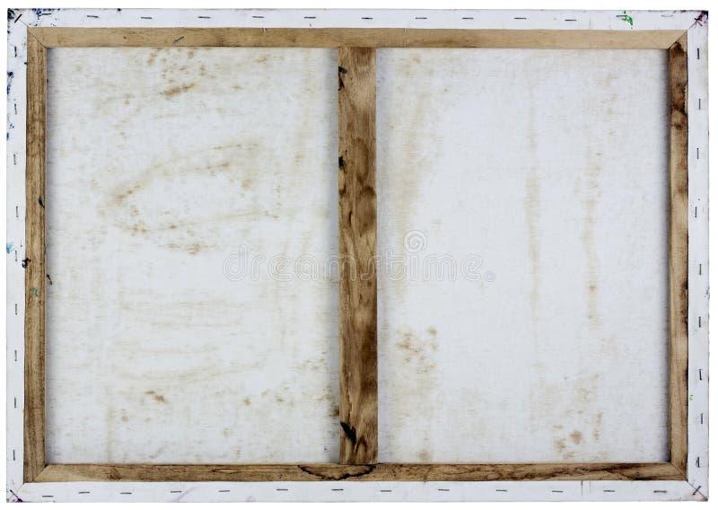 Vista lateral trasera de la lona blanca del aceite fotografía de archivo