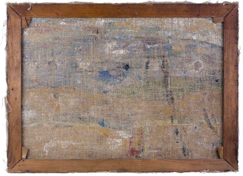Vista lateral trasera de la lona del aceite fotos de archivo libres de regalías