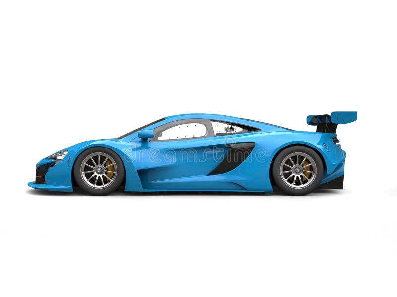 Vista laterale automobilistica della corsa moderna brillante blu di Dodger royalty illustrazione gratis