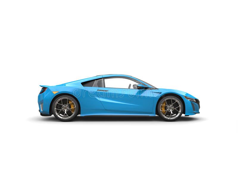 Vista laterale automobilistica di sport di lusso moderni blu di Dodger illustrazione di stock