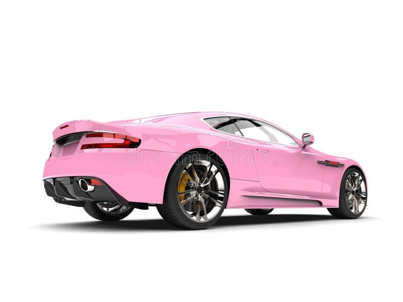 Vista laterale automobilistica di sport di lusso moderni di rosa di bambino royalty illustrazione gratis