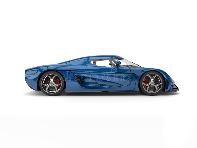 Vista laterale automobilistica eccellente blu di notte illustrazione vettoriale