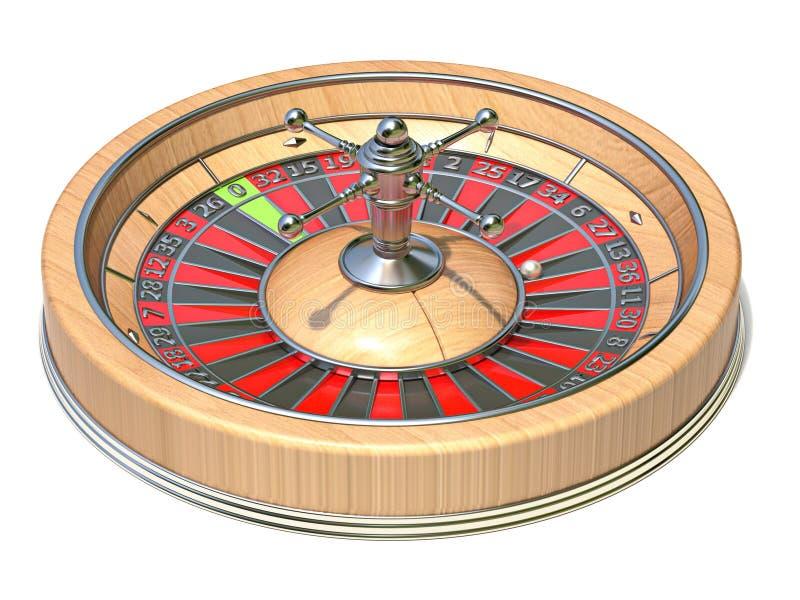 Vista laterale 3D della ruota di roulette illustrazione vettoriale