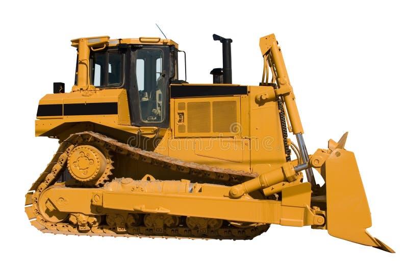 Vista laterale del nuovo bulldozer fotografie stock