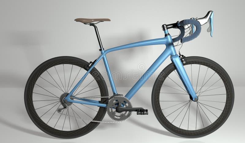Vista laterale della bici della strada illustrazione 3D illustrazione vettoriale