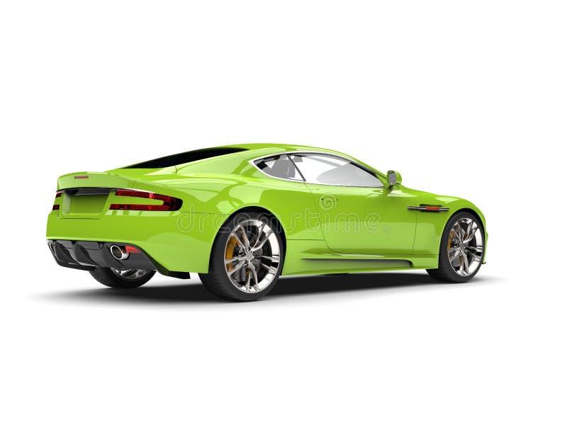 Vista laterale della coda automobilistica di lusso moderna verde pazza di sport royalty illustrazione gratis